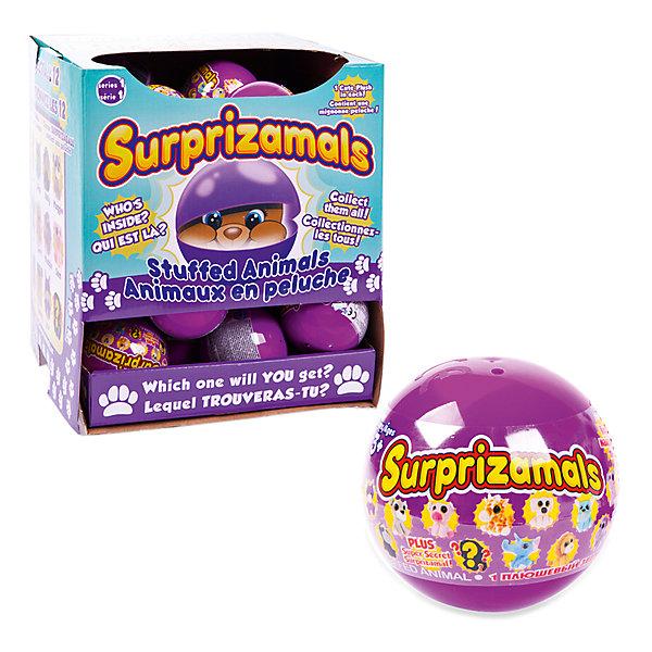 Мягкая игрушка Surprizamals в капсуле, серия 1 (в ассортименте)Мягкие игрушки животные<br>Характеристики товара:<br><br>• возраст: от 3 лет;<br>• материал: пластик, плюш;<br>• в комплекте: шар, 1 игрушка, буклет коллекционера;<br>• диаметр шара: 6 см;<br>• размер упаковки: 6х6х6 см;<br>• вес упаковки: 30 гр.;<br>• страна производитель: Китай;<br>• товар представлен в ассортименте.<br><br>Мягкая игрушка Surprizamals в капсуле Серия 1— маленький пушистый зверек, спрятанный в капсуле. Так как капсула непрозрачная, то какой именно зверек попадется внутри, станет сюрпризом. Игрушка выполнена из мягкого приятного плюша. Памятка коллекционера позволит разобраться во всей коллекции, записать уже имеющихся зверьков. Всего есть 4 вида зверьков: обычные, коллекционные, редкие, ультраредкие.<br><br>Мягкую игрушку Surprizamals в капсуле Серия 1 можно приобрести в нашем интернет-магазине.<br>Ширина мм: 60; Глубина мм: 60; Высота мм: 60; Вес г: 30; Возраст от месяцев: 36; Возраст до месяцев: 120; Пол: Унисекс; Возраст: Детский; SKU: 7276546;