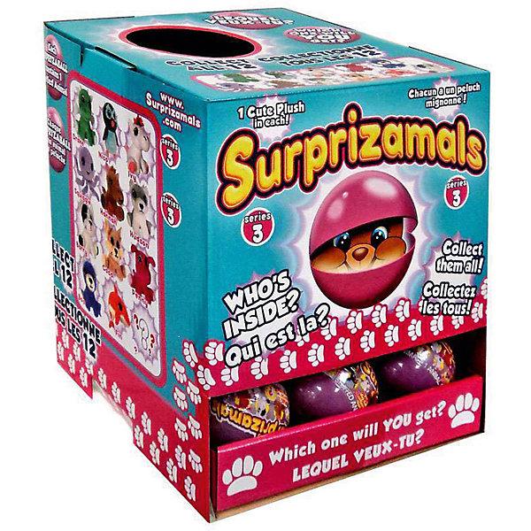 Мягкая игрушка Surprizamals в капсуле, серия 3 (в ассортименте)Мягкие игрушки животные<br>Характеристики товара:<br><br>• возраст: от 3 лет;<br>• материал: пластик, плюш;<br>• в комплекте: шар, 1 игрушка, буклет коллекционера;<br>• диаметр шара: 6 см;<br>• размер упаковки: 6х6х6 см;<br>• вес упаковки: 30 гр.;<br>• страна производитель: Китай;<br>• товар представлен в ассортименте.<br><br>Мягкая игрушка Surprizamals в капсуле Серия 3 — маленький пушистый зверек, спрятанный в капсуле. Так как капсула непрозрачная, то какой именно зверек попадется внутри, станет сюрпризом. Игрушка выполнена из мягкого приятного плюша. Памятка коллекционера позволит разобраться во всей коллекции, записать уже имеющихся зверьков. Всего есть 4 вида зверьков: обычные, коллекционные, редкие, ультраредкие.<br><br>Мягкую игрушку Surprizamals в капсуле Серия 3 можно приобрести в нашем интернет-магазине.<br>Ширина мм: 60; Глубина мм: 60; Высота мм: 60; Вес г: 30; Возраст от месяцев: 36; Возраст до месяцев: 120; Пол: Унисекс; Возраст: Детский; SKU: 7276549;
