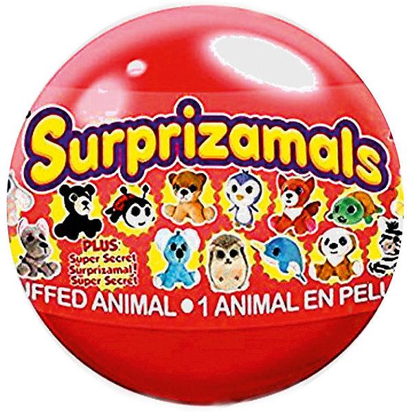 Мягкая игрушка Surprizamals в капсуле, серия 4 (в ассортименте)Мягкие игрушки животные<br>Характеристики товара:<br><br>• возраст: от 3 лет;<br>• материал: пластик, плюш;<br>• в комплекте: шар, 1 игрушка, буклет коллекционера;<br>• диаметр шара: 6 см;<br>• размер упаковки: 6х6х6 см;<br>• вес упаковки: 30 гр.;<br>• страна производитель: Китай;<br>• товар представлен в ассортименте.<br><br>Мягкая игрушка Surprizamals в капсуле Серия 4 — маленький пушистый зверек, спрятанный в капсуле. Так как капсула непрозрачная, то какой именно зверек попадется внутри, станет сюрпризом. Игрушка выполнена из мягкого приятного плюша. Памятка коллекционера позволит разобраться во всей коллекции, записать уже имеющихся зверьков. Всего есть 4 вида зверьков: обычные, коллекционные, редкие, ультраредкие.<br><br>Мягкую игрушку Surprizamals в капсуле Серия 4 можно приобрести в нашем интернет-магазине.<br><br>Ширина мм: 60<br>Глубина мм: 86<br>Высота мм: 66<br>Вес г: 150<br>Возраст от месяцев: 36<br>Возраст до месяцев: 120<br>Пол: Унисекс<br>Возраст: Детский<br>SKU: 7276550