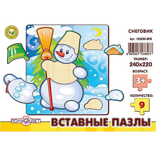 Пазлы вставные СНЕГОВИКРамки-вкладыши<br>Характеристики товара:<br><br>• возраст: от 3 лет;  <br>• материал: фанера березовая шлифованная;<br>• размер упаковки: 24х22х0,6 см.;<br>• упаковка: гофрокороб;<br>• краска: водная.<br><br>Игрушка представляет собой деревянные вставные пазлы с высококачественной печатью. Рекомендовано для детских садов и центров, а также для домашнего использования.<br><br>Пазлы выполнены из натурального дерева с помощью лазерной резки. <br> <br>Материал имеет высокий срок службы и устойчивость к нагрузкам, экологичен и безопасен.  <br><br>Пазлы вставные с изображением снеговика можно купить в нашем интернет-магазине.<br>Ширина мм: 10; Глубина мм: 240; Высота мм: 220; Вес г: 220; Возраст от месяцев: 36; Возраст до месяцев: 84; Пол: Унисекс; Возраст: Детский; SKU: 7276660;