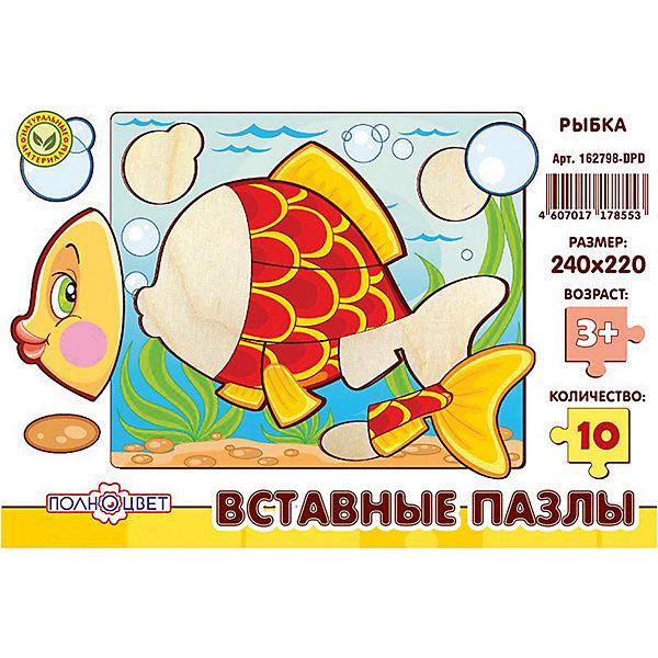 Пазлы вставные РЫБКАРамки-вкладыши<br>Характеристики товара:<br><br>• возраст: от 3 лет; <br>• материал: фанера березовая шлифованная;<br>• размер упаковки: 24х22х0,6 см.;<br>• упаковка: гофрокороб;<br>• краска: водная.<br><br>Игрушка представляет собой деревянные вставные пазлы с высококачественной печатью. Рекомендовано для детских садов и центров, а также для домашнего использования.<br><br>Пазлы выполнены из натурального дерева с помощью лазерной резки. <br> <br>Материал имеет высокий срок службы и устойчивость к нагрузкам, экологичен и безопасен.  <br><br>Пазлы вставные с изображенем рыбки можно купить в нашем интернет-магазине.<br><br>Ширина мм: 9999<br>Глубина мм: 9999<br>Высота мм: 9999<br>Вес г: 9999<br>Возраст от месяцев: 36<br>Возраст до месяцев: 84<br>Пол: Унисекс<br>Возраст: Детский<br>SKU: 7276663