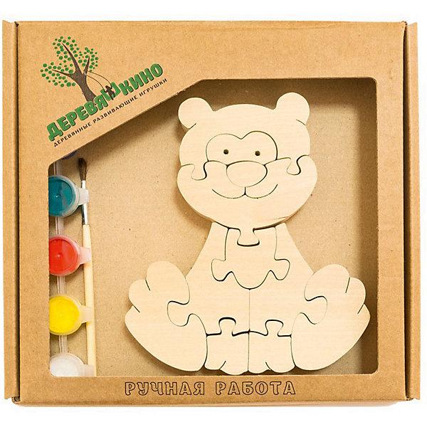 Развивающий пазл КотикПазлы для малышей<br>Характеристики товара:<br><br>• возраст: от 3 лет;<br>• количество деталей: 11 шт.;<br>• материал: пластик, дерево, краски;<br>• комплект: элементы пазла, кисточка, краски 6 цветов;<br>• размер упаковки: 20х20х3 см.;<br>• упаковка: картонная коробка блистерного типа;<br>• cтрана обладатель бренда: Россия.<br><br>Игрушка собирается и разбирается по принципу пазла, что поможет ребенку в игровой форме развить внимание, логическое и образное мышление. <br><br>Собрав игрушку, ее можно раскрасить по своему усмотрению, использовав краски и кисточку из набора.<br><br>Яркий разноцветный котик станет забавным и милым результатом интересной игры.<br><br>Элементы игрушки изготовлены из экологически чистой березовой древесины.<br><br>Развивающий пазл можно купить в нашем интернет-магазине.<br>Ширина мм: 30; Глубина мм: 200; Высота мм: 200; Вес г: 200; Возраст от месяцев: 36; Возраст до месяцев: 84; Пол: Унисекс; Возраст: Детский; SKU: 7276672;