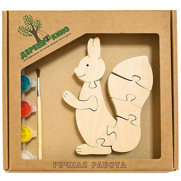 Развивающий пазл БелочкаПазлы для малышей<br>Характеристики товара:<br><br>• возраст: от 3 лет;<br>• количество деталей: 11 шт.;<br>• материал: пластик, дерево, краски;<br>• комплект: элементы пазла, кисточка, краски 6 цветов;<br>• размер упаковки: 20х20х3 см.;<br>• упаковка: картонная коробка блистерного типа;<br>• cтрана обладатель бренда: Россия.<br><br>Игрушка собирается и разбирается по принципу пазла, что поможет ребенку в игровой форме развить внимание, логическое и образное мышление. <br><br>Собрав игрушку белочку, ее можно раскрасить по своему усмотрению, использовав краски и кисточку из набора.<br><br>Элементы игрушки изготовлены из экологически чистой березовой древесины.<br><br>Развивающий пазл можно купить в нашем интернет-магазине.<br><br>Ширина мм: 9999<br>Глубина мм: 9999<br>Высота мм: 9999<br>Вес г: 9999<br>Возраст от месяцев: 36<br>Возраст до месяцев: 84<br>Пол: Унисекс<br>Возраст: Детский<br>SKU: 7276674