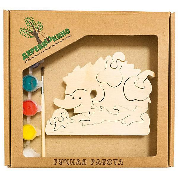Развивающий пазл Ежик с грушейПазлы для малышей<br>Характеристики товара:<br><br>• возраст: от 3 лет;<br>• количество деталей: 11 шт.;<br>• материал: пластик, дерево, краски;<br>• комплект: элементы пазла, кисточка, краски 6 цветов;<br>• размер упаковки: 20х20х3 см.;<br>• упаковка: картонная коробка блистерного типа;<br>• cтрана обладатель бренда: Россия.<br><br>Игрушка собирается и разбирается по принципу пазла, что поможет ребенку в игровой форме развить внимание, логическое и образное мышление. <br><br>Собрав ежика с грушей, его можно раскрасить по своему усмотрению, использовав краски и кисточку из набора.<br><br>Элементы игрушки изготовлены из экологически чистой березовой древесины.<br><br>Развивающий пазл можно купить в нашем интернет-магазине.<br>Ширина мм: 30; Глубина мм: 200; Высота мм: 200; Вес г: 200; Возраст от месяцев: 36; Возраст до месяцев: 84; Пол: Унисекс; Возраст: Детский; SKU: 7276677;