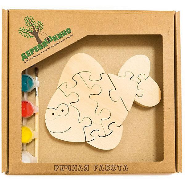 Развивающий пазл Веселый карасикПазлы для малышей<br>Характеристики товара:<br><br>• возраст: от 3 лет;<br>• персонаж: веселый карасик;<br>• количество деталей: 11 шт.;<br>• материал: пластик, дерево, краски;<br>• комплект: элементы пазла, кисточка, краски 6 цветов;<br>• размер упаковки: 20х20х3 см.;<br>• упаковка: картонная коробка блистерного типа;<br>• cтрана обладатель бренда: Россия.<br><br>Игрушка собирается и разбирается по принципу пазла, что поможет ребенку в игровой форме развить внимание, логическое и образное мышление. <br><br>Собрав веселого карасика, его можно раскрасить по своему усмотрению, использовав краски и кисточку из набора.<br><br>Элементы игрушки изготовлены из экологически чистой березовой древесины.<br><br>Развивающий пазл можно купить в нашем интернет-магазине.<br><br>Ширина мм: 30<br>Глубина мм: 200<br>Высота мм: 200<br>Вес г: 200<br>Возраст от месяцев: 36<br>Возраст до месяцев: 84<br>Пол: Унисекс<br>Возраст: Детский<br>SKU: 7276686