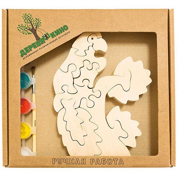 Развивающий пазл Попугай на веткеПазлы для малышей<br>Характеристики товара:<br><br>• возраст: от 3 лет; <br>• персонаж: попугай на ветке; <br>• количество деталей: 11 шт.;<br>• материал: пластик, дерево, краски;<br>• комплект: элементы пазла, кисточка, краски 6 цветов;<br>• размер упаковки: 20х20х3 см.;<br>• упаковка: картонная коробка блистерного типа;<br>• cтрана обладатель бренда: Россия.<br><br>Игрушка собирается и разбирается по принципу пазла, что поможет ребенку в игровой форме развить внимание, логическое и образное мышление. <br><br>Собрав попугая сидящего на ветке, его можно раскрасить по своему усмотрению, использовав краски и кисточку из набора.<br><br>Элементы игрушки изготовлены из экологически чистой березовой древесины.<br><br>Развивающий пазл можно купить в нашем интернет-магазине.<br>Ширина мм: 30; Глубина мм: 200; Высота мм: 200; Вес г: 200; Возраст от месяцев: 36; Возраст до месяцев: 84; Пол: Унисекс; Возраст: Детский; SKU: 7276692;