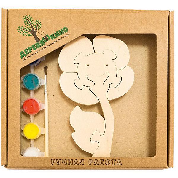 Развивающий пазл ЦветокПазлы для малышей<br>Характеристики товара:<br><br>• возраст: от 3 лет;  <br>• персонаж: цветок;<br>• количество деталей: 11 шт.;<br>• материал: пластик, дерево, краски;<br>• комплект: элементы пазла, кисточка, краски 6 цветов;<br>• размер упаковки: 20х20х3 см.;<br>• упаковка: картонная коробка блистерного типа;<br>• cтрана обладатель бренда: Россия.<br><br>Игрушка собирается и разбирается по принципу пазла, что поможет ребенку в игровой форме развить внимание, логическое и образное мышление. <br><br>Собрав цветочек, его можно раскрасить по своему усмотрению, использовав краски и кисточку из набора.<br><br>Элементы игрушки изготовлены из экологически чистой березовой древесины.<br><br>Развивающий пазл можно купить в нашем интернет-магазине.<br>Ширина мм: 30; Глубина мм: 200; Высота мм: 200; Вес г: 200; Возраст от месяцев: 36; Возраст до месяцев: 84; Пол: Унисекс; Возраст: Детский; SKU: 7276694;