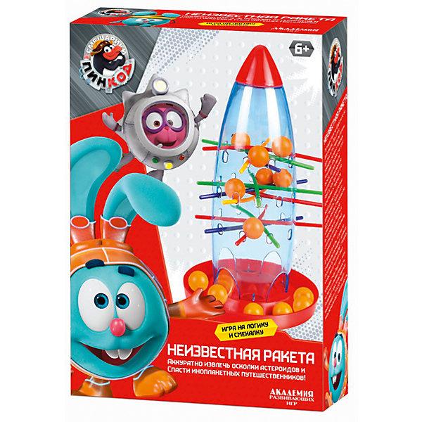 Настольная игра Неизвестная РакетаНастольные игры для всей семьи<br>Характеристики товара:<br><br>• возраст: от 3 лет;<br>• герои: смешарики;<br>• количество игроков: 1-4; <br>• комплект:  15 шариков, ракета, 20 шпажек, инструкция;<br>• материал: пластик;<br>• размер упаковки: 20x15x0,5 см.;<br>• упаковка: картонная коробка;<br>• cтрана обладатель бренда: Россия.<br><br>Настольная игра неизвестная ракета это хороший способ провести весело и с пользой провести время. <br><br>Суть игры заключается в том, что из ракеты нужно извлечь торчащие шпажки, чтобы шарики упали на специальную подставку под ракетой. <br><br>Настольную игру можно купить в нашем интернет-магазине.<br><br>Ширина мм: 9999<br>Глубина мм: 9999<br>Высота мм: 9999<br>Вес г: 9999<br>Возраст от месяцев: 36<br>Возраст до месяцев: 84<br>Пол: Унисекс<br>Возраст: Детский<br>SKU: 7276706