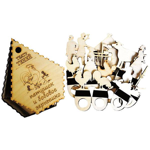 Фигура для театра теней ПЕТУШОК И БОБОВОЕ ЗЕРНЫШКОКукольный театр<br>Характеристики товара:<br><br>• возраст: от 3 лет; <br>• комплект: фигурки для театра теней, коробочка;<br>• материал: дерево, магнитный винил;<br>• упаковка: пленка;<br>• размер упаковки: 22,2х17х4,5 см.;<br>• страна обладатель бренда: Россия.<br><br>Комплект фигурок для театра теней позволит, не прилагая особых усилий, организовать увлекательное представление, которое будет основываться на сюжете сказки Петушок и бобовое зернышко. <br><br>Наличие всех персонажей истории, необходимых декораций, и правильно выставленный свет продемонстрируют ребенку простейший элемент 2D-анимации.<br><br>Ширма в комплект не входит и приобретается отдельно.<br><br>Фигурки для театра теней  можно купить в нашем интернет-магазине.<br><br>Ширина мм: 9999<br>Глубина мм: 9999<br>Высота мм: 9999<br>Вес г: 9999<br>Возраст от месяцев: 36<br>Возраст до месяцев: 84<br>Пол: Унисекс<br>Возраст: Детский<br>SKU: 7276723