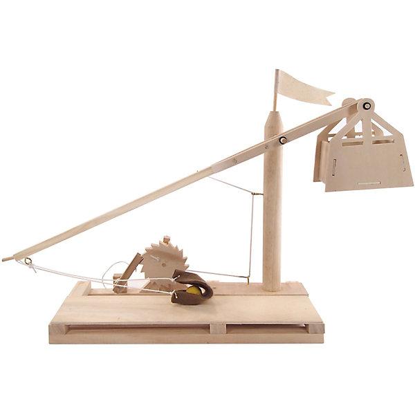Требушет модель D-032Деревянные модели<br>Характеристики товара:<br><br>• возраст: от 7 лет;  <br>• комплект: 43 деревянные детали, 1 флаг, 1 плащевая сумка, 3 винта с петлей, резиновые кольца, веревка, шайба, клей, кучочек пластилина, инструкция по сборке;<br>• материал: дерево;<br>• страна обладатель бренда: Россия.<br><br>Деревянная модель средневекового требушета это не только отличный развивающий конструктор из натуральных материалов, а еще и  прекрасная возможность поговорить об исторических реалиях: как происходила замковая осада, какие орудия использовали для этого люди, для чего конкретно было предназначено каждое из них.<br><br>В процессе сборки вам придется освоить не только технические детали конструкции, усовершенствованной великим Леонардо, но и вспомнить основы механики: как работают все части модели, почему они взаимодействуют именно таким образом. <br><br>Массу интересной информации вы сможете найти в инструкции по сборке, которая приложена к каждому набору.<br><br>Требушет можно купить в нашем интернет-магазине.<br>Ширина мм: 60; Глубина мм: 390; Высота мм: 170; Вес г: 570; Возраст от месяцев: 84; Возраст до месяцев: 144; Пол: Унисекс; Возраст: Детский; SKU: 7276726;