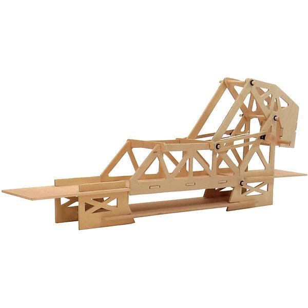 Мост разводной модель D-015Деревянные модели<br>Характеристики товара:<br><br>• возраст: от 7 лет;<br>• комплект: 22 деревянных детали, 6 штифтов, 20 резиновых колец, 2 резинки, веревки, наждачная бумага, клей, инструкция по сборке, образовательный материал;<br>• материал: дерево;<br>• страна обладатель бренда: Россия.<br><br>Понимает ли ваш ребенок, насколько сложна конструкция разводного моста? Это не просто две половинки одного целого. Это механизм, который создан из десятков деталей. <br><br>Для ребенка сборка станет интересным опытом, который расширит его горизонты. Представления о мире науки и техники также будут расширяться на практике.<br><br>При сборке модели задействованы логическое и пространственное мышление.<br><br>Мост вращающийся можно купить в нашем интернет-магазине.<br>Ширина мм: 60; Глубина мм: 330; Высота мм: 100; Вес г: 240; Возраст от месяцев: 84; Возраст до месяцев: 144; Пол: Унисекс; Возраст: Детский; SKU: 7276729;