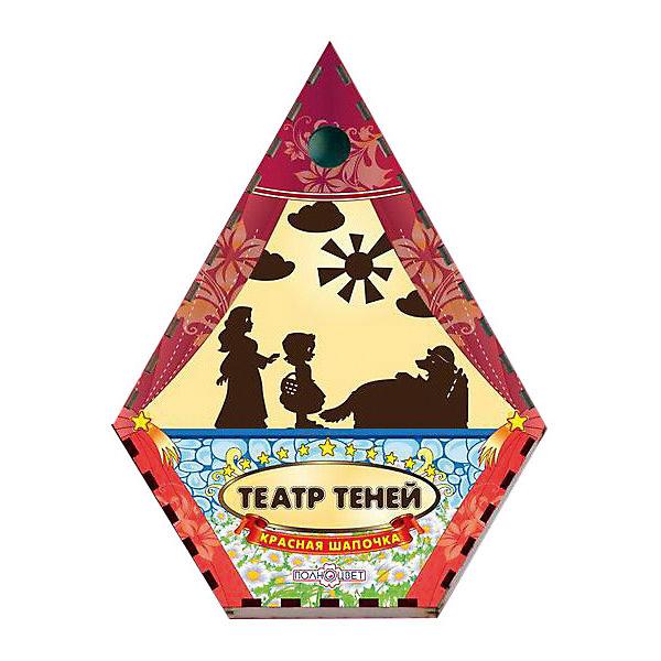 Театр теней Красная шапочка цветнойКукольный театр<br>Характеристики товара:<br><br>• возраст: от 3 лет;   <br>• комплект: ширма, 12 фигурок;<br>• материал: дерево, магнит, винил;<br>• упаковка: пленка;<br>• размер упаковки: 22х17х3 см.;<br>• размер ширмы: 47х36х5 см.;<br>• страна обладатель бренда: Россия.<br><br>Настольная игра Красная шапочка отличный выбор занятия для проведения семейного досуга. <br><br>В набор включены цветная ширма и 12 фигурок героев сказки красной шапочки.  Фигурки изготовлены из дерева. Фигурки крепятся к ширме с помощью магнита, что добавляет больше удобств при игре. Для начала представления необходимо затемнить комнату и установить фонарь или лампу за ширмой. <br><br>Данная настольная игра поможет в развитии творческих навыков вашего ребенка и доставит ему массу незабываемых впечатлений. <br><br>Театр теней  можно купить в нашем интернет-магазине.<br>Ширина мм: 50; Глубина мм: 220; Высота мм: 170; Вес г: 300; Возраст от месяцев: 36; Возраст до месяцев: 84; Пол: Унисекс; Возраст: Детский; SKU: 7276735;