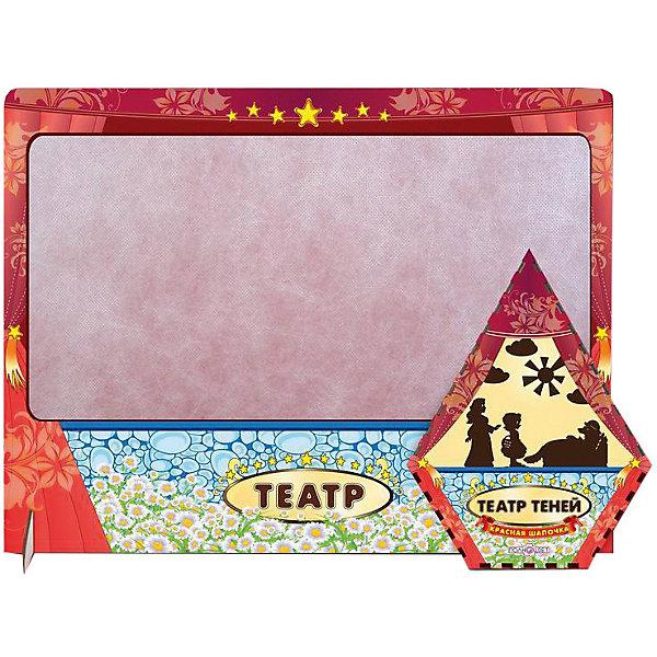 Театр теней Красная шапочка цветной с ширмойКукольный театр<br>Характеристики товара:<br><br>• возраст: от 3 лет;  <br>• комплект: ширма, 12 фигурок;<br>• материал: дерево, магнит, винил;<br>• упаковка: пленка;<br>• размер ширмы: 47х36х5 см.;<br>• размер упаковки: 22х17х3 см;<br>• страна обладатель бренда: Россия.<br><br>Настольная игра Красная шапочка отличный выбор занятия для проведения семейного досуга. <br><br>В набор включены цветная ширма и 12 фигурок героев сказки расная шапочка. Ширма и фигурки изготовлены из дерева. Фигурки крепятся к ширме с помощью магнита, что добавляет больше удобств при игре. <br><br>Данная настольная игра поможет в развитии творческих навыков вашего ребенка и доставит ему массу незабываемых впечатлений. <br><br>Театр теней  можно купить в нашем интернет-магазине.<br>Ширина мм: 50; Глубина мм: 470; Высота мм: 360; Вес г: 520; Возраст от месяцев: 36; Возраст до месяцев: 84; Пол: Унисекс; Возраст: Детский; SKU: 7276741;
