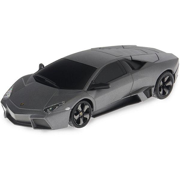 Радиоуправляемая машинка Rastar Lamborghini Reventon, 1:24Радиоуправляемые машины<br>Характеристики товара:<br><br>• возраст: от 5 лет;<br>• материал: пластик, металл;<br>• в комплекте: машина, аккумулятор, зарядное устройство, пульт;<br>• тип батареек: 5 батареек АА;<br>• наличие батареек: не входят в комплект;<br>• размер машины: 20х9х6 см;<br>• масштаб: 1:24;<br>• размер упаковки: 38,5х12х10 см;<br>• вес упаковки: 528 гр.;<br>• страна производитель: Китай.<br><br>Радиоуправляемая машина Rastar Lamborghini Reventon представляет собой копию настоящего автомобиля. Машина умеет ездить вперед и назад, поворачивать. Она развивает скорость до 9 км/час. Машинка оснащена системой амортизации. Подойдет для игр как в помещении, так и на улице.<br><br>Радиоуправляемую машину Rastar Lamborghini Reventon можно приобрести в нашем интернет-магазине.<br><br>Ширина мм: 385<br>Глубина мм: 120<br>Высота мм: 100<br>Вес г: 528<br>Возраст от месяцев: 36<br>Возраст до месяцев: 180<br>Пол: Мужской<br>Возраст: Детский<br>SKU: 7297250