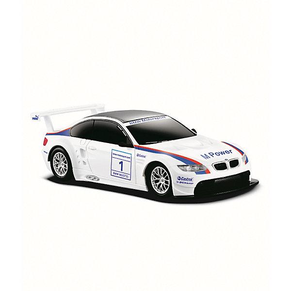 Радиоуправляемая машинка Rastar BMW M3, 1:24Радиоуправляемые машины<br>Характеристики товара:<br><br>• возраст: от 8 лет;<br>• материал: пластик, металл;<br>• в комплекте: машина, пульт;<br>• тип батареек: 5 батареек АА, 1 крона 9V;<br>• наличие батареек: не входят в комплект;<br>• дальность действия пульта: 15 метров;<br>• время игры: 25 минут;<br>• время зарядки: 4-5 часов;<br>• размер машины: 19,7х8,2х5,5 см;<br>• масштаб: 1:24;<br>• размер упаковки: 38,5х12х10 см;<br>• вес упаковки: 460 гр.;<br>• страна производитель: Китай.<br><br>Радиоуправляемая машина Rastar BMW M3 представляет собой копию настоящего автомобиля. Машина умеет ездить вперед и назад, поворачивать. Она развивает скорость до 12 км/час. Подойдет для игр как в помещении, так и на улице.<br><br>Радиоуправляемую машину Rastar BMW M3 можно приобрести в нашем интернет-магазине.<br><br>Ширина мм: 385<br>Глубина мм: 120<br>Высота мм: 100<br>Вес г: 460<br>Возраст от месяцев: 36<br>Возраст до месяцев: 180<br>Пол: Мужской<br>Возраст: Детский<br>SKU: 7297262