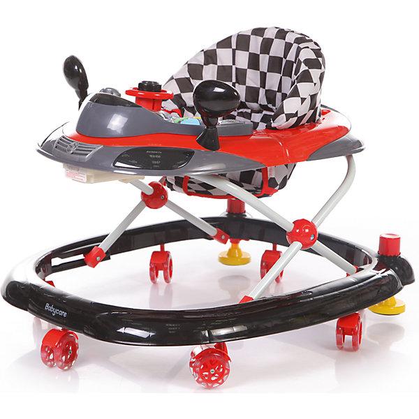 Ходунки Baby Care Prix, черныйХодунки<br>арактеристики товара:<br><br>• возраст от 8 месяцев;<br>• допустимый вес эксплуатации: 12 кг<br>• материал: пластик;<br>• регулировка по высоте в 3 положениях;<br>• игровая панель со световыми эффектами;<br>• 8 силиконовых колес;<br>• размер ходунков 65х56х52 см;<br>• вес 2,8 кг;<br>• размер упаковки 66х57х14 см;<br>• вес упаковки 3,4 кг.<br><br>Ходунки Baby Care Prix учат малыша передвигаться самостоятельно и держать равновесие. Ходунки оборудованы сидением с мягкой обивкой. Высоту сидения можно отрегулировать по мере роста малыша. Спереди расположена игровая панель со световыми эффектами. В процессе игры у него развиваются мелкая моторика рук, цветовое и зрительное восприятие. Конструкция отличается хорошей устойчивостью. Колеса изготовлены из силикона и не повреждают напольное покрытие. <br><br>Ходунки Baby Care Prix можно приобрести в нашем интернет-магазине.<br><br>Ширина мм: 660<br>Глубина мм: 570<br>Высота мм: 140<br>Вес г: 3400<br>Цвет: черный<br>Возраст от месяцев: 8<br>Возраст до месяцев: 15<br>Пол: Унисекс<br>Возраст: Детский<br>SKU: 7297645