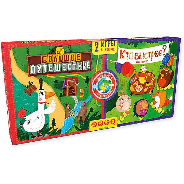 Большое путешествие. Кто быстрее?/Карякина О.Стратегические настольные игры<br>Характеристики товара:<br><br>• возраст: от 4 лет;<br>• пол: для мальчиков и девочек;<br>• из чего сделана игра (состав): картон;<br>• размер упаковки: 20х37х3 см.;<br>• вес: 656 гр.;<br>• упаковка: картонная коробка;<br>• комплект: 16 фишек, 1 игровой кубик, игровое поле, правила игры;<br>• страна обладатель бренда: Россия.<br><br>Настольная игра содержит в себе 2 старинные игры-стратегии родом из Испании и Италии. <br><br>Игра развивает стратегическое мышление, зрительную память, сообразительность и внимательность.<br><br>И помните золотое правило: игру начинает самый младший игрок.<br><br>Настольную игру можно купить в нашем интернет-магазине.<br>Ширина мм: 200; Глубина мм: 370; Высота мм: 30; Вес г: 656; Возраст от месяцев: 48; Возраст до месяцев: 72; Пол: Унисекс; Возраст: Детский; SKU: 7299882;