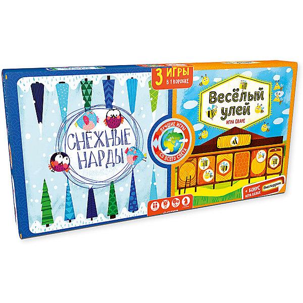 Снежные нарды. Весёлый улей/Карякина О.Стратегические настольные игры<br>Характеристики товара:<br><br>• возраст: от 7 лет;<br>• пол: для мальчиков и девочек;<br>• из чего сделана игра (состав): картон, пластик, парафин;<br>• количество предполагаемых игроков: 2;<br>• время игры: 30 минут;<br>• размер упаковки: 20х37х3 см.;<br>• вес: 790 гр.;<br>• упаковка: картонная коробка;<br>• комплект: двустороннее игровое поле, фишки для всех игр, правила;<br>• страна обладатель бренда: Россия.<br><br>Набор предлагает детям возможность сыграть сразу в две различные настольные игры: «Снежные нарды»  и «Веселый улей». <br><br>Игровые поля выполнены в оригинальном тематическом дизайне, чтобы разыгрывать партии было еще интереснее.<br><br>Настольную игру можно купить в нашем интернет-магазине.<br><br>Ширина мм: 200<br>Глубина мм: 370<br>Высота мм: 30<br>Вес г: 790<br>Возраст от месяцев: 84<br>Возраст до месяцев: 132<br>Пол: Унисекс<br>Возраст: Детский<br>SKU: 7299884