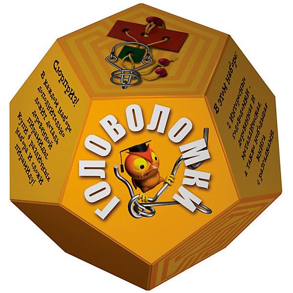 Головоломка Додекаэдр ЖелтыйКлассические головоломки<br>Характеристики товара:<br><br>• возраст: от 3 лет;<br>• цвет: желтый;<br>• в комплекте: книга-инструкция 16 страниц с цветными иллюстрациями, 1 металлическая и 1 деревянная головоломки + деталь от пирамиды;<br>• размер упаковки: 14х14х11 см.;<br>• вес: 0,2 кг.;<br>• издательство: Новый формат .<br><br>В этом наборе две интересные головоломки- деревянная и металлическая, а также небольшая книга с разгадками. Сюрприз! В каждом наборе дополнительно лежит деталь деревянной пирамиды. Купи 4 различных набора и собери пирамиду!<br><br>Головоломку «Додекаэдр» Желтый можно купить в нашем интернет-магазине.<br><br>Ширина мм: 140<br>Глубина мм: 140<br>Высота мм: 110<br>Вес г: 200<br>Возраст от месяцев: 36<br>Возраст до месяцев: 2147483647<br>Пол: Унисекс<br>Возраст: Детский<br>SKU: 7300413