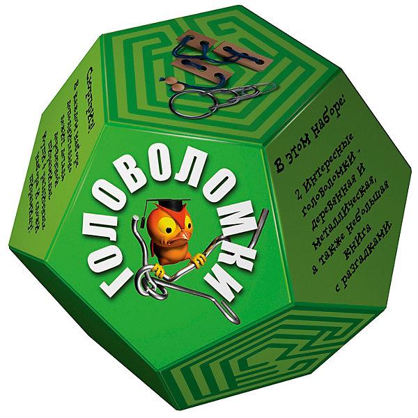 Головоломка ДодекаэдрЗеленыйКлассические головоломки<br>Характеристики товара:<br><br>• возраст: от 3 лет;<br>• цвет: зеленый;<br>• в комплекте: книга-инструкция 16 страниц с цветными иллюстрациями, 1 металлическая и 1 деревянная головоломки + деталь от пирамиды;<br>• размер упаковки: 14х14х11 см.;<br>• вес: 0,2 кг.;<br>• издательство: Новый формат .<br><br>В этом наборе две интересные головоломки- деревянная и металлическая, а также небольшая книга с разгадками. Сюрприз! В каждом наборе дополнительно лежит деталь деревянной пирамиды. Купи 4 различных набора и собери пирамиду!<br><br>Головоломку «Додекаэдр» Зеленый можно купить в нашем интернет-магазине.<br>Ширина мм: 140; Глубина мм: 140; Высота мм: 110; Вес г: 200; Возраст от месяцев: 36; Возраст до месяцев: 2147483647; Пол: Унисекс; Возраст: Детский; SKU: 7300414;