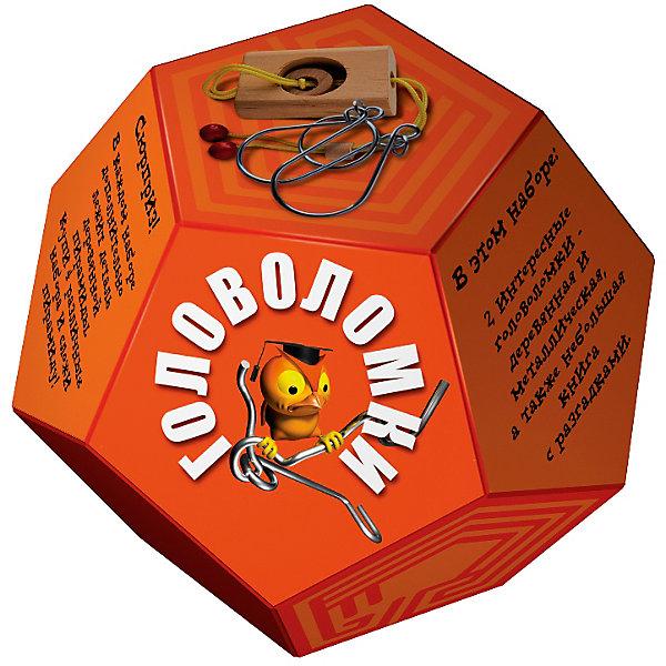 Головоломка ДодекаэдрОранжевыйКлассические головоломки<br>Характеристики товара:<br><br>• возраст: от 3 лет;<br>• цвет: оранжевый;<br>• в комплекте: книга-инструкция 16 страниц с цветными иллюстрациями, 1 металлическая и 1 деревянная головоломки + деталь от пирамиды;<br>• размер упаковки: 14х14х11 см.;<br>• вес: 0,2 кг.;<br>• издательство: Новый формат .<br><br>В этом наборе две интересные головоломки- деревянная и металлическая, а также небольшая книга с разгадками. Сюрприз! В каждом наборе дополнительно лежит деталь деревянной пирамиды. Купи 4 различных набора и собери пирамиду!<br><br>Головоломку «Додекаэдр» Оранжевый можно купить в нашем интернет-магазине.<br><br>Ширина мм: 140<br>Глубина мм: 140<br>Высота мм: 110<br>Вес г: 200<br>Возраст от месяцев: 36<br>Возраст до месяцев: 2147483647<br>Пол: Унисекс<br>Возраст: Детский<br>SKU: 7300417