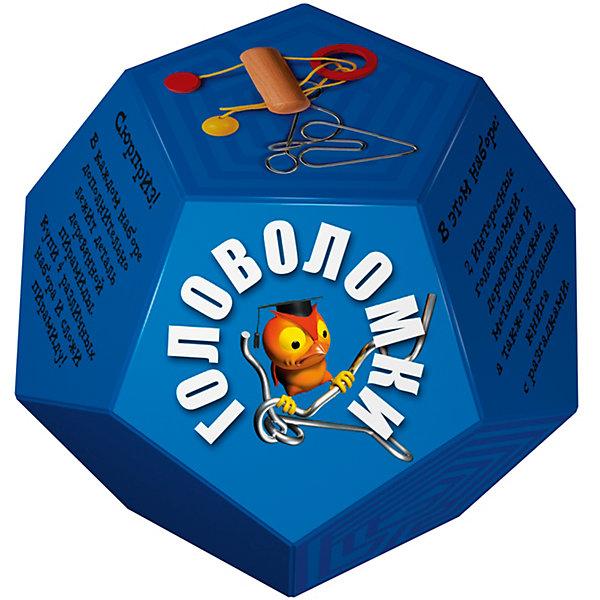 Головоломка Додекаэдр СинийКлассические головоломки<br>Характеристики товара:<br><br>• возраст: от 3 лет;<br>• цвет: синий;<br>• в комплекте: книга-инструкция 16 страниц с цветными иллюстрациями, 1 металлическая и 1 деревянная головоломки + деталь от пирамиды;<br>• размер упаковки: 14х14х11 см.;<br>• вес: 0,2 кг.;<br>• издательство: Новый формат .<br><br>В этом наборе две интересные головоломки- деревянная и металлическая, а также небольшая книга с разгадками. Сюрприз! В каждом наборе дополнительно лежит деталь деревянной пирамиды. Купи 4 различных набора и собери пирамиду!<br><br>Головоломку «Додекаэдр» Синий можно купить в нашем интернет-магазине.<br><br>Ширина мм: 140<br>Глубина мм: 140<br>Высота мм: 110<br>Вес г: 200<br>Возраст от месяцев: 36<br>Возраст до месяцев: 2147483647<br>Пол: Унисекс<br>Возраст: Детский<br>SKU: 7300418