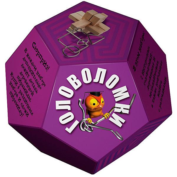 Головоломка ДодекаэдрФиолетовыйЖелезные головоломки<br>В этом наборе две интересные головоломки- деревянная и металлическая, а также небольшая книга с разгадками. Сюрприз! В каждом наборе дополнительно лежит деталь деревянной пирамиды. Купи 4 различных набора и собери пирамиду!<br><br>Ширина мм: 140<br>Глубина мм: 140<br>Высота мм: 110<br>Вес г: 200<br>Возраст от месяцев: 36<br>Возраст до месяцев: 2147483647<br>Пол: Унисекс<br>Возраст: Детский<br>SKU: 7300419