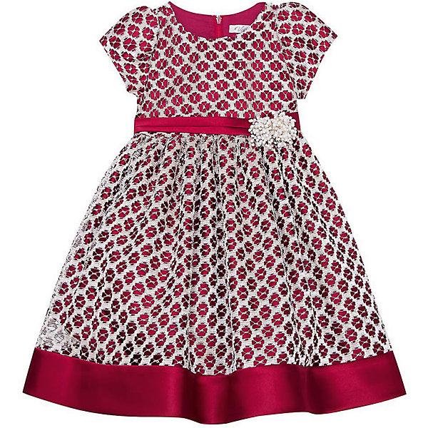 Нарядное платье Vitacci для девочкиОдежда<br>Характеристики товара:<br><br>• цвет: красный;<br>• состав: 100% полиэстер;<br>• подкладка: 100% хлопок;<br>• сезон: круглый год;<br>• особенности: нарядное, на подкладке;<br>• застежка: молния на спинке;<br>• поясок с цветочками;<br>• с коротким рукавом;<br>• страна бренда: Италия;<br>• страна изготовитель: Китай.<br><br>Нарядное платье с коротким рукавом для девочки. Застегиватеся сзади на молнию. Контрастный пояс с добавлением декоративных элементов изделия по талии.<br><br>Нарядное платье Vitacci (Витачи) можно купить в нашем интернет-магазине.<br><br>Ширина мм: 236<br>Глубина мм: 16<br>Высота мм: 184<br>Вес г: 177<br>Цвет: бордовый<br>Возраст от месяцев: 72<br>Возраст до месяцев: 84<br>Пол: Женский<br>Возраст: Детский<br>Размер: 110,86,92,98,104<br>SKU: 7300967