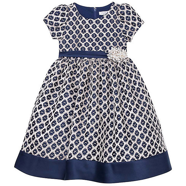 Нарядное платье Vitacci для девочкиОдежда<br>Характеристики товара:<br><br>• цвет: синий;<br>• состав: 100% полиэстер;<br>• подкладка: 100% хлопок;<br>• сезон: круглый год;<br>• особенности: нарядное, на подкладке;<br>• застежка: молния на спинке;<br>• поясок с цветочками;<br>• с коротким рукавом;<br>• страна бренда: Италия;<br>• страна изготовитель: Китай.<br><br>Нарядное платье с коротким рукавом для девочки. Застегиватеся сзади на молнию. Контрастный пояс с добавлением декоративных элементов изделия по талии.<br><br>Нарядное платье Vitacci (Витачи) можно купить в нашем интернет-магазине.<br>Ширина мм: 236; Глубина мм: 16; Высота мм: 184; Вес г: 177; Цвет: синий; Возраст от месяцев: 12; Возраст до месяцев: 15; Пол: Женский; Возраст: Детский; Размер: 86,110,104,98,92; SKU: 7300973;