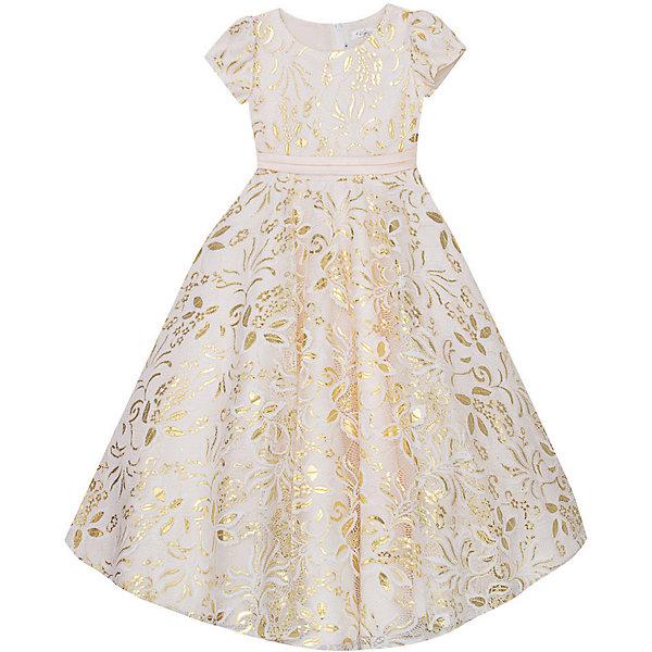 Нарядное платье Vitacci для девочкиОдежда<br>Характеристики товара:<br><br>• цвет: золотой;<br>• состав: 100% полиэстер;<br>• подкладка: 100% хлопок;<br>• сезон: круглый год;<br>• особенности: нарядное, на подкладке;<br>• застежка: молния на спинке;<br>• поясок;<br>• с коротким рукавом;<br>• пышная юбка;<br>• страна бренда: Италия;<br>• страна изготовитель: Китай.<br><br>Нарядное платье с коротким рукавом для девочки. Контрастный пояс с добавлением декоративных элементов изделия по талии. Платье с пышной юбкой.<br><br>Нарядное платье Vitacci (Витачи) можно купить в нашем интернет-магазине.<br>Ширина мм: 236; Глубина мм: 16; Высота мм: 184; Вес г: 177; Цвет: желтый; Возраст от месяцев: 96; Возраст до месяцев: 108; Пол: Женский; Возраст: Детский; Размер: 110,120,130,90,100; SKU: 7300979;