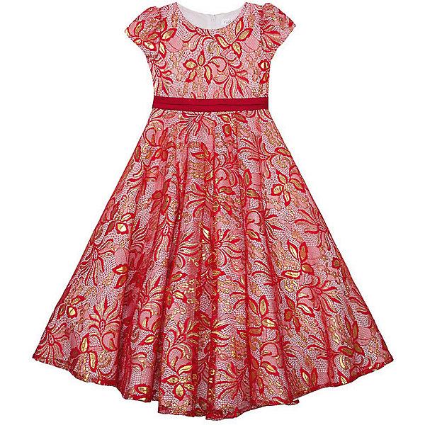Купить Нарядное платье Vitacci для девочки, красный, 110, 120, 100, 90, 130, Женский
