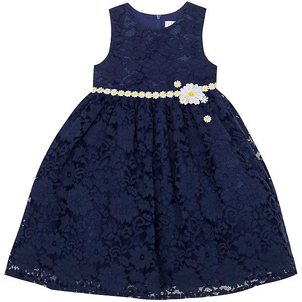 Нарядное платье Vitacci для девочкиОдежда<br>Характеристики товара:<br><br>• цвет: синий;<br>• состав: 100% полиэстер;<br>• подкладка: 100% хлопок;<br>• сезон: круглый год;<br>• особенности: нарядное, на подкладке, кружевное;<br>• застежка: молния на спинке;<br>• с пояском;<br>• без рукавов;<br>• декорировано цветами;<br>• страна бренда: Италия;<br>• страна изготовитель: Китай.<br><br>Нарядное платье без рукавов для девочки. Кружевное платье застегивается на молнию сзади. Платье декорировано контрастным пояском с цветочком в виде ромашек.<br><br>Нарядное платье Vitacci (Витачи) можно купить в нашем интернет-магазине.<br>Ширина мм: 236; Глубина мм: 16; Высота мм: 184; Вес г: 177; Цвет: синий; Возраст от месяцев: 12; Возраст до месяцев: 15; Пол: Женский; Возраст: Детский; Размер: 86,110,104,98,92; SKU: 7301015;