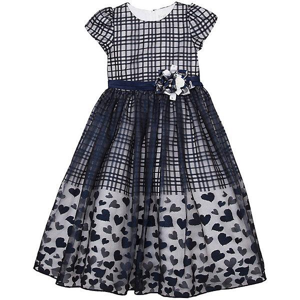 Нарядное платье Vitacci для девочкиОдежда<br>Характеристики товара:<br><br>• цвет: синий;<br>• состав: 100% полиэстер;<br>• подкладка: 100% хлопок;<br>• сезон: круглый год;<br>• особенности: нарядное, на подкладке, в клетку;<br>• застежка: молния на спинке;<br>• с пояском;<br>• с коротким рукавом;<br>• страна бренда: Италия;<br>• страна изготовитель: Китай.<br><br>Нарядное платье с коротким рукавом для девочки. Платье застегивается сзади на молнию, сверху юбки сетчатая ткань. Пояс декорирован объемным цветком. Платье с рисунком в клетку.<br><br>Нарядное платье Vitacci (Витачи) можно купить в нашем интернет-магазине.<br>Ширина мм: 236; Глубина мм: 16; Высота мм: 184; Вес г: 177; Цвет: синий; Возраст от месяцев: 96; Возраст до месяцев: 108; Пол: Женский; Возраст: Детский; Размер: 120,110,100,90,130; SKU: 7301033;