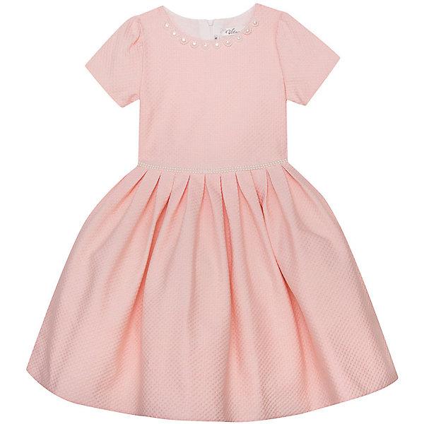 Нарядное платье Vitacci для девочкиОдежда<br>Характеристики товара:<br><br>• цвет: розовый;<br>• состав: 100% полиэстер;<br>• подкладка: 100% хлопок;<br>• сезон: круглый год;<br>• особенности: нарядное, на подкладке;<br>• застежка: молния на спинке;<br>• с пояском;<br>• с коротким рукавом;<br>• страна бренда: Италия;<br>• страна изготовитель: Китай.<br><br>Нарядное платье с коротким рукавом для девочки. Платье застегивается сзади на молнию. Поясок выполнен из бусин под жемчуг, у ворота платье декорировано бусинами-жемчужинами.<br><br>Нарядное платье Vitacci (Витачи) можно купить в нашем интернет-магазине.<br>Ширина мм: 236; Глубина мм: 16; Высота мм: 184; Вес г: 177; Цвет: розовый; Возраст от месяцев: 96; Возраст до месяцев: 108; Пол: Женский; Возраст: Детский; Размер: 110,120,130,90,100; SKU: 7301039;
