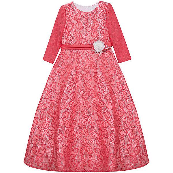 Нарядное платье Vitacci для девочкиОдежда<br>Характеристики товара:<br><br>• цвет: розовый;<br>• состав: 100% полиэстер;<br>• подкладка: 100% хлопок;<br>• сезон: круглый год;<br>• особенности: нарядное, на подкладке, с рисунком;<br>• застежка: молния на спинке;<br>• с пояском;<br>• с длинным рукавом;<br>• страна бренда: Италия;<br>• страна изготовитель: Китай.<br><br>Нарядное платье с длинным рукавом для девочки. Платье застегивается сзади на молнию. Поясок декорирован объемным цветком, платье с рисунком в виде листьев.<br><br>Нарядное платье Vitacci (Витачи) можно купить в нашем интернет-магазине.<br><br>Ширина мм: 236<br>Глубина мм: 16<br>Высота мм: 184<br>Вес г: 177<br>Цвет: розовый<br>Возраст от месяцев: 96<br>Возраст до месяцев: 108<br>Пол: Женский<br>Возраст: Детский<br>Размер: 120,110,100,90,130<br>SKU: 7301045