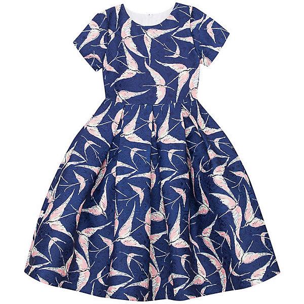 Нарядное платье Vitacci для девочкиОдежда<br>Характеристики товара:<br><br>• цвет: синий;<br>• состав: 100% полиэстер;<br>• подкладка: 100% хлопок;<br>• сезон: круглый год;<br>• особенности: нарядное, на подкладке, с рисунком;<br>• застежка: молния на спинке;<br>• пышная юбка;<br>• с коротким рукавом;<br>• страна бренда: Италия;<br>• страна изготовитель: Китай.<br><br>Нарядное платье с коротким рукавом для девочки. Платье застегивается сзади на молнию. Платье с пышной юбкой, декорировано рисунком в виде птиц.<br><br>Нарядное платье Vitacci (Витачи) можно купить в нашем интернет-магазине.<br>Ширина мм: 236; Глубина мм: 16; Высота мм: 184; Вес г: 177; Цвет: синий; Возраст от месяцев: 96; Возраст до месяцев: 108; Пол: Женский; Возраст: Детский; Размер: 120,110,100,90,130; SKU: 7301051;