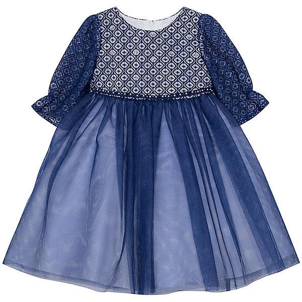 Нарядное платье Vitacci для девочкиОдежда<br>Характеристики товара:<br><br>• цвет: синий;<br>• состав: 100% полиэстер;<br>• подкладка: 100% хлопок;<br>• сезон: круглый год;<br>• особенности: нарядное, на подкладке;<br>• застежка: молния на спинке;<br>• поясок;<br>• с длинным рукавом;<br>• страна бренда: Италия;<br>• страна изготовитель: Китай.<br><br>Нарядное платье с длинным рукавом для девочки. Пышное платье застегивается сзади на молнию. Платье с пояском в виде бусин-жемчужин, дополнено несколькими бусинами спереди на грудке. Рукава платья без подкладки.<br><br>Нарядное платье Vitacci (Витачи) можно купить в нашем интернет-магазине.<br>Ширина мм: 236; Глубина мм: 16; Высота мм: 184; Вес г: 177; Цвет: синий; Возраст от месяцев: 12; Возраст до месяцев: 15; Пол: Женский; Возраст: Детский; Размер: 86,110,104,98,92; SKU: 7301075;