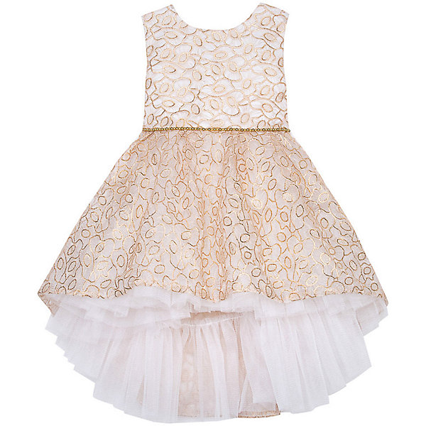 Нарядное платье Vitacci для девочкиОдежда<br>Характеристики товара:<br><br>• цвет: бежевый;<br>• состав: 100% полиэстер;<br>• подкладка: 100% хлопок;<br>• сезон: круглый год;<br>• особенности: нарядное, на подкладке, с рисунком;<br>• застежка: молния на спинке;<br>• поясок;<br>• без рукавов;<br>• завышенный перед юбки;<br>• страна бренда: Италия;<br>• страна изготовитель: Китай.<br><br>Нарядное платье без рукавов для девочки. Пышное платье застегивается сзади на молнию. Платье с пояском в виде бусин. Платье с передней завышенной юбкой.<br><br>Нарядное платье Vitacci (Витачи) можно купить в нашем интернет-магазине.<br><br>Ширина мм: 236<br>Глубина мм: 16<br>Высота мм: 184<br>Вес г: 177<br>Цвет: бежевый<br>Возраст от месяцев: 72<br>Возраст до месяцев: 84<br>Пол: Женский<br>Возраст: Детский<br>Размер: 110,86,92,98,104<br>SKU: 7301081
