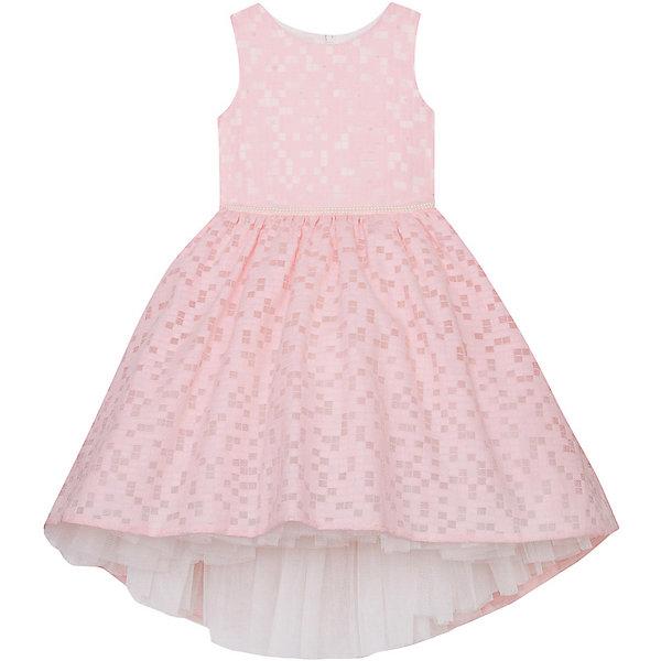 Нарядное платье Vitacci для девочкиОдежда<br>Характеристики товара:<br><br>• цвет: бежевый;<br>• состав: 100% полиэстер;<br>• подкладка: 100% хлопок;<br>• сезон: круглый год;<br>• особенности: нарядное, на подкладке, с рисунком;<br>• застежка: молния на спинке;<br>• пышная юбка;<br>• без рукавов;<br>• завышенный перед юбки;<br>• страна бренда: Италия;<br>• страна изготовитель: Китай.<br><br>Нарядное платье без рукавов для девочки. Пышное платье застегивается сзади на молнию. Платье с пышной юбкой с завышенной линий юбки спереди.<br><br>Нарядное платье Vitacci (Витачи) можно купить в нашем интернет-магазине.<br><br>Ширина мм: 236<br>Глубина мм: 16<br>Высота мм: 184<br>Вес г: 177<br>Цвет: розовый<br>Возраст от месяцев: 96<br>Возраст до месяцев: 108<br>Пол: Женский<br>Возраст: Детский<br>Размер: 110,120,130,90,100<br>SKU: 7301093