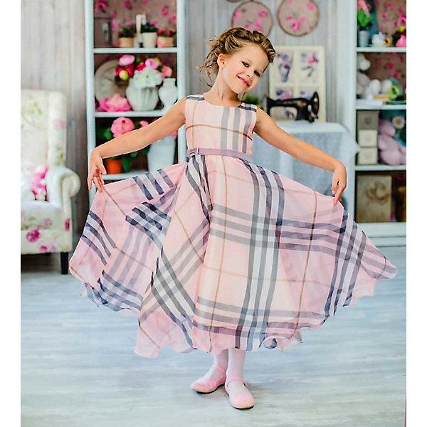 Платье нарядное Unona Dart для девочкиОдежда<br>Характеристики товара:<br><br>• цвет: розовый;<br>• состав: 100% полиэстер;<br>• подкладка: 65% полиэстер, 35% хлопок;<br>• сезон: круглый год;<br>• особенности: нарядное, на подкладке, в клетку;<br>• застежка: молния на спинке;<br>• поясок-лента;<br>• без рукавов;<br>• пышная юбка;<br>• страна бренда: Россия;<br>• страна изготовитель: Россия.<br><br>Нарядное платье без рукавов для девочки. Шикарное платье из шифона с актуальным принтом в крупную клетку. Гладкий лиф, пышная, широкая юбка-солнце. Длина до середины голени. Платье застегивается на молнию. Дополнительное облегание достигается за счет пояса из бархатной тесьмы. В платье уже есть подъюбник из сетки, который придает юбке пышность.<br><br>Нарядное платье Unona Dart (Юнона де Арт) можно купить в нашем интернет-магазине.<br>Ширина мм: 236; Глубина мм: 16; Высота мм: 184; Вес г: 177; Цвет: розовый; Возраст от месяцев: 84; Возраст до месяцев: 96; Пол: Женский; Возраст: Детский; Размер: 128,134,122; SKU: 7309008;