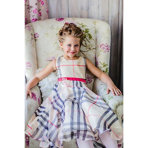 Платье нарядное Unona Dart для девочкиОдежда<br>Характеристики товара:<br><br>• цвет: бежевый;<br>• состав: 100% полиэстер;<br>• подкладка: 65% полиэстер, 35% хлопок;<br>• сезон: круглый год;<br>• особенности: нарядное, на подкладке, в клетку;<br>• застежка: молния на спинке;<br>• поясок-лента;<br>• без рукавов;<br>• пышная юбка;<br>• страна бренда: Россия;<br>• страна изготовитель: Россия.<br><br>Нарядное платье без рукавов для девочки. Шикарное платье из шифона с актуальным принтом в крупную клетку. Гладкий лиф, пышная, широкая юбка-солнце. Длина до середины голени. Платье застегивается на молнию. Дополнительное облегание достигается за счет пояса из бархатной тесьмы. В платье уже есть подъюбник из сетки, который придает юбке пышность.<br><br>Нарядное платье Unona Dart (Юнона де Арт) можно купить в нашем интернет-магазине.<br>Ширина мм: 236; Глубина мм: 16; Высота мм: 184; Вес г: 177; Цвет: бежевый; Возраст от месяцев: 72; Возраст до месяцев: 84; Пол: Женский; Возраст: Детский; Размер: 122,134,128; SKU: 7309012;