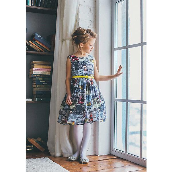 Платье нарядное Unona Dart для девочкиОдежда<br>Характеристики товара:<br><br>• цвет: серый;<br>• состав: 100% полиэстер;<br>• подкладка: 65% полиэстер, 35% хлопок;<br>• сезон: круглый год;<br>• особенности: нарядное, на подкладке, с рисунком;<br>• застежка: молния на спинке;<br>• ремешок;<br>• без рукавов;<br>• страна бренда: Россия;<br>• страна изготовитель: Россия.<br><br>Нарядное платье без рукавов для девочки. Платье из легкого креп-шифона с актуальным принтом Лондон. Гладкий лиф, пышная юбка со сборками. Длина до колена. В комплекте с платьем ремешок. В платье уже есть подъюбник из сетки, который придает юбке пышность.<br><br>Нарядное платье Unona Dart (Юнона де Арт) можно купить в нашем интернет-магазине.<br><br>Ширина мм: 236<br>Глубина мм: 16<br>Высота мм: 184<br>Вес г: 177<br>Цвет: серый<br>Возраст от месяцев: 72<br>Возраст до месяцев: 84<br>Пол: Женский<br>Возраст: Детский<br>Размер: 122,134,128<br>SKU: 7309045