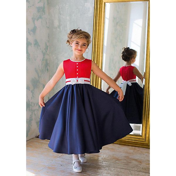 Платье нарядное Unona Dart для девочкиОдежда<br>Характеристики товара:<br><br>• цвет: красный/синий;<br>• состав: 100% полиэстер;<br>• подкладка: 65% полиэстер, 35% хлопок;<br>• сезон: круглый год;<br>• особенности: нарядное, на подкладке;<br>• застежка: молния на спинке;<br>• поясок-лента;<br>• без рукавов;<br>• юбка-солнце;<br>• страна бренда: Россия;<br>• страна изготовитель: Россия.<br><br>Нарядное платье без рукавов для девочки. Модное сочетание цветов, жемчужная фактура ткани, а главное великолепная юбка-солнце. Регулировка по талии за счет пояса из широкой репсовой ленты.<br><br>Нарядное платье Unona Dart (Юнона де Арт) можно купить в нашем интернет-магазине.<br><br>Ширина мм: 236<br>Глубина мм: 16<br>Высота мм: 184<br>Вес г: 177<br>Цвет: синий<br>Возраст от месяцев: 60<br>Возраст до месяцев: 72<br>Пол: Женский<br>Возраст: Детский<br>Размер: 116,134,128,122<br>SKU: 7309049