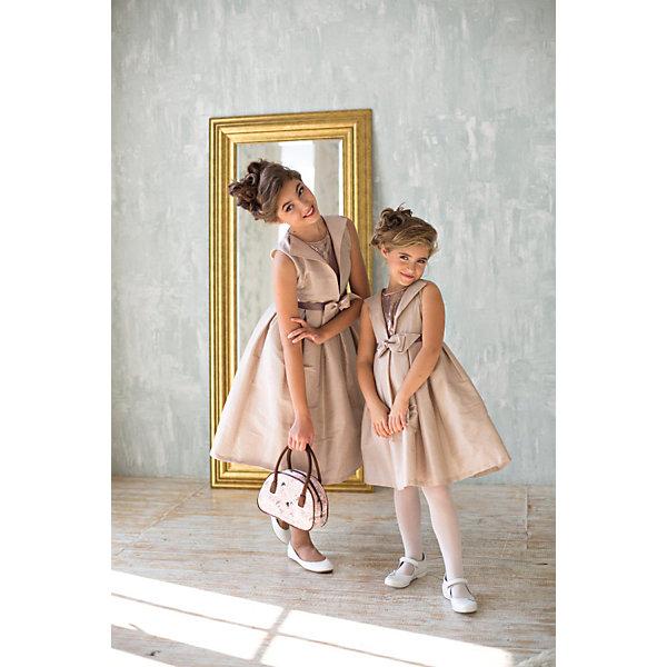 Купить Платье нарядное Unona D'art для девочки, Россия, коричневый, 122, 134, 128, Женский