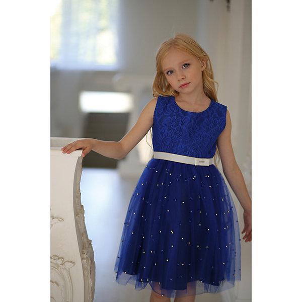 Купить Платье нарядное Unona D'art для девочки, Россия, синий, 134, 116, 128, 122, Женский