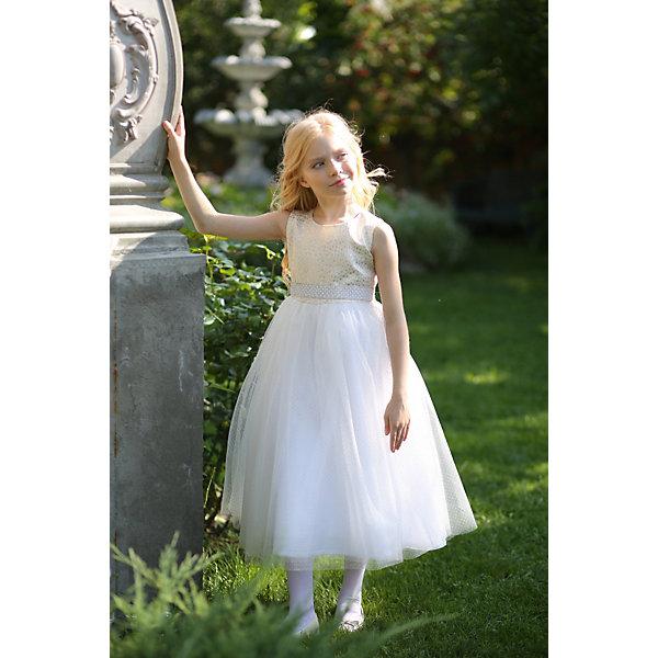 Платье нарядное Unona Dart для девочкиОдежда<br>Характеристики товара:<br><br>• цвет: розовый;<br>• состав: 100% полиэстер;<br>• подкладка: 65% полиэстер, 35% хлопок;<br>• сезон: круглый год;<br>• особенности: нарядное, на подкладке;<br>• застежка: молния на спинке;<br>• поясок-лента;<br>• без рукавов;<br>• страна бренда: Россия;<br>• страна изготовитель: Россия.<br><br>Нарядное платье без рукавов для девочки. Изысканное бальное платье в стиле принцесс длиной до щиколотки. Лиф лаконичного покроя выполнен из парчи тонкой выработки. Юбка многослойная пышная, держит форму. Пояс съемный, усыпан стразами и жемчужинами высокого качества, которые будут сверкать в лучах праздничных софитов .<br><br>Нарядное платье Unona Dart (Юнона де Арт) можно купить в нашем интернет-магазине.<br>Ширина мм: 236; Глубина мм: 16; Высота мм: 184; Вес г: 177; Цвет: желтый; Возраст от месяцев: 84; Возраст до месяцев: 96; Пол: Женский; Возраст: Детский; Размер: 128,110,122,116; SKU: 7309142;