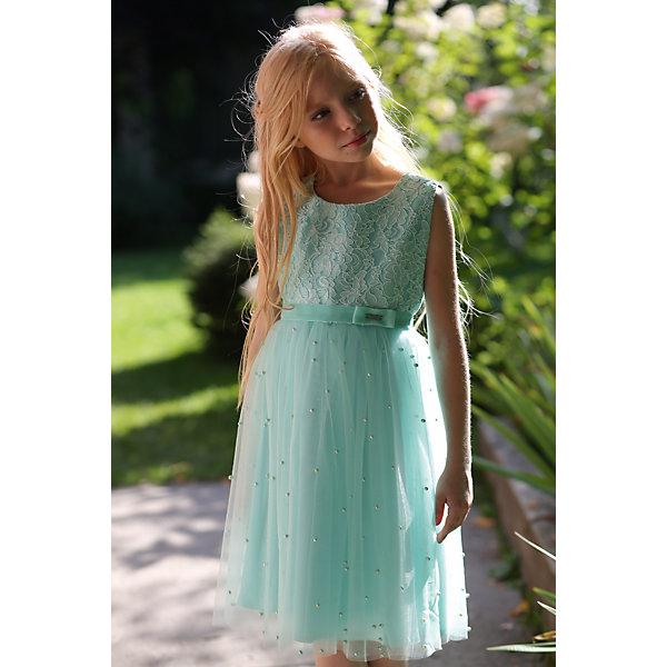 Платье нарядное Unona Dart для девочкиОдежда<br>Характеристики товара:<br><br>• цвет: мятный;<br>• состав: 100% полиэстер;<br>• подкладка: 65% полиэстер, 35% хлопок;<br>• сезон: круглый год;<br>• особенности: нарядное, на подкладке;<br>• застежка: молния на спинке;<br>• поясок-лента;<br>• без рукавов;<br>• страна бренда: Россия;<br>• страна изготовитель: Россия.<br><br>Нарядное платье без рукавов для девочки. Ультрамодное платье для любой вечеринки. Лиф покрыт изысканным кружевом, а юбка, словно звездное небо, усыпана жемчужинами! Пояс из репсовой ленты обеспечивает прилегание по талии.<br><br>Нарядное платье Unona Dart (Юнона де Арт) можно купить в нашем интернет-магазине.<br>Ширина мм: 236; Глубина мм: 16; Высота мм: 184; Вес г: 177; Цвет: зеленый; Возраст от месяцев: 60; Возраст до месяцев: 72; Пол: Женский; Возраст: Детский; Размер: 116,134,128,122; SKU: 7309175;