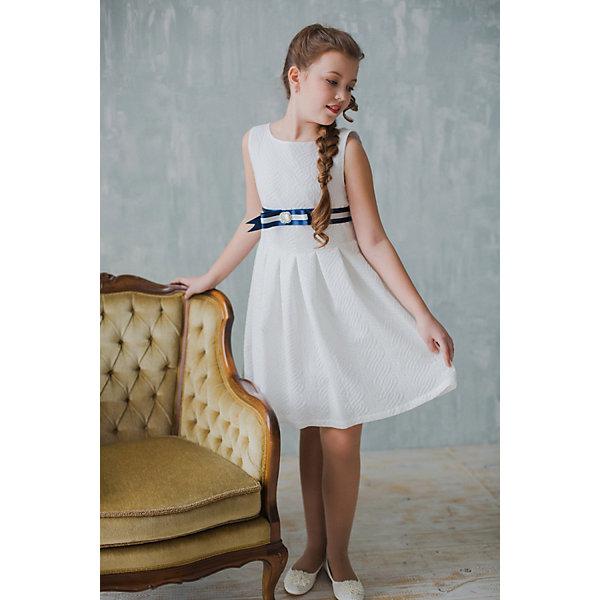 Платье нарядное Unona Dart для девочкиОдежда<br>Характеристики товара:<br><br>• цвет: молочный;<br>• состав: 100% полиэстер;<br>• подкладка: 65% полиэстер, 35% хлопок;<br>• сезон: круглый год;<br>• особенности: нарядное, на подкладке;<br>• застежка: молния на спинке;<br>• поясок;<br>• без рукавов;<br>• страна бренда: Россия;<br>• страна изготовитель: Россия.<br><br>Нарядное платье без рукавов для девочки. Изысканное платье с мягкими складками на юбке. Платье застегивается на молнию. Дополнительное облегание достигается за счет красивого, сложного пояса из атласной ленты, украшенного бантом и брошью с искусственными камнями. В платье уже есть подъюбник из сетки, который придает юбке пышность.<br><br>Нарядное платье Unona Dart (Юнона де Арт) можно купить в нашем интернет-магазине.<br>Ширина мм: 236; Глубина мм: 16; Высота мм: 184; Вес г: 177; Цвет: белый; Возраст от месяцев: 108; Возраст до месяцев: 120; Пол: Женский; Возраст: Детский; Размер: 140,158,152,146; SKU: 7309229;