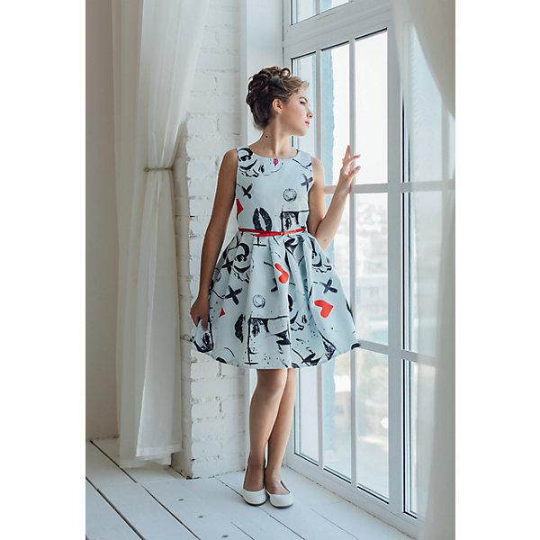 Платье нарядное Unona Dart для девочкиОдежда<br>Характеристики товара:<br><br>• цвет: серый;<br>• состав: 100% полиэстер;<br>• подкладка: 65% полиэстер, 35% хлопок;<br>• сезон: круглый год;<br>• особенности: нарядное, на подкладке;<br>• застежка: молния на спинке;<br>• ремешок;<br>• без рукавов;<br>• страна бренда: Россия;<br>• страна изготовитель: Россия.<br><br>Нарядное платье без рукавов для девочки. Коктейльное платье из атласа с модным принтом. Гладкий лиф, пышная юбка в крупную складку. Очень хорошая посадка по фигуре. Длина чуть выше колена. Платье застегивается на молнию. Дополнительно облегание по талии регулируется с помощью ремня. Ремень поставляется в комплекте с платьем. В платье уже есть подъюбник из сетки, который придает юбке пышность.<br><br>Нарядное платье Unona Dart (Юнона де Арт) можно купить в нашем интернет-магазине.<br><br>Ширина мм: 236<br>Глубина мм: 16<br>Высота мм: 184<br>Вес г: 177<br>Цвет: серый<br>Возраст от месяцев: 120<br>Возраст до месяцев: 132<br>Пол: Женский<br>Возраст: Детский<br>Размер: 146,158,152<br>SKU: 7309239