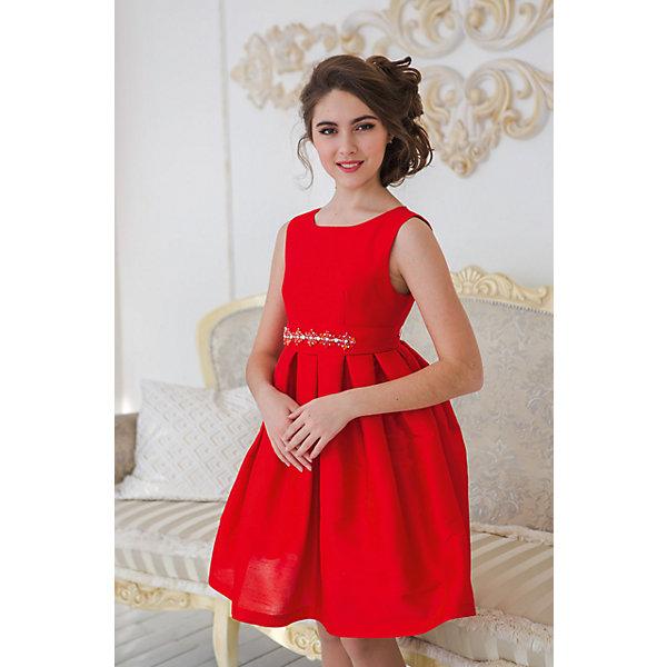 Платье нарядное Unona Dart для девочкиОдежда<br>Характеристики товара:<br><br>• цвет: красный;<br>• состав: 100% полиэстер;<br>• подкладка: 65% полиэстер, 35% хлопок;<br>• сезон: круглый год;<br>• особенности: нарядное, на подкладке;<br>• застежка: молния на спинке;<br>• поясок;<br>• без рукавов;<br>• страна бренда: Россия;<br>• страна изготовитель: Россия.<br><br>Нарядное платье без рукавов для девочки. Шикарное платье из ткани, имитирующей натуральный шелк. Гладкий лиф, пышная юбка со складками. Длина до колена. Платье застегивается на молнию. Дополнительное облегание достигается за счет съемного пояса из основной ткани. Богатый блестящий декор из металла и крупных страз.  В платье уже есть подъюбник из сетки, который придает юбке пышность.<br><br>Нарядное платье Unona Dart (Юнона де Арт) можно купить в нашем интернет-магазине.<br>Ширина мм: 236; Глубина мм: 16; Высота мм: 184; Вес г: 177; Цвет: красный; Возраст от месяцев: 144; Возраст до месяцев: 156; Пол: Женский; Возраст: Детский; Размер: 158,146,152; SKU: 7309251;